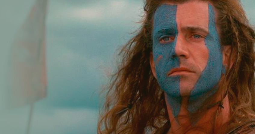 Mel Gibson como William Wallace
