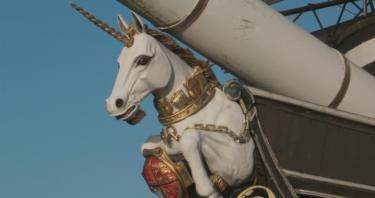 Unicornio en Escocia, el animal nacional